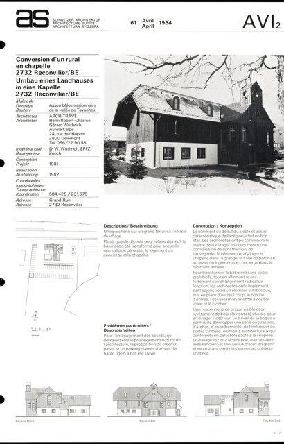 Conversion d'un rural en chapelle, page 1