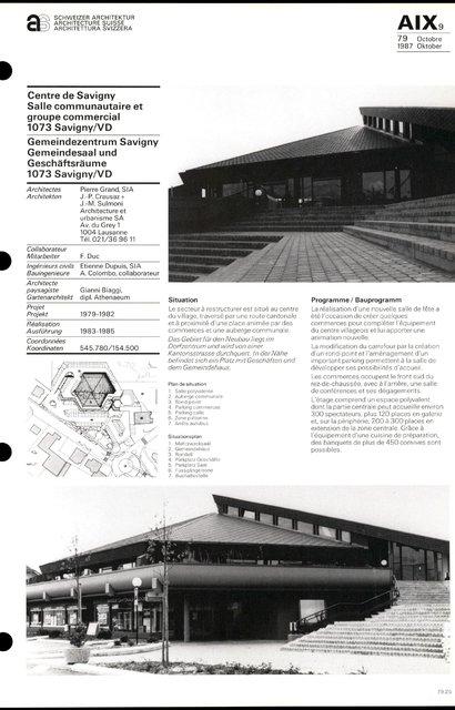 Centre de Savigny Salle communautaire et groupe commercial, page 1