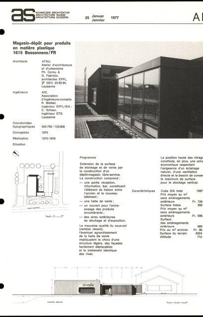 Magasin-dépôt pour produits en matière plastique, page 1