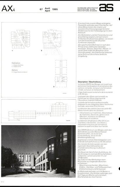 Centre de formation professionnelle pour handicapés, page 2