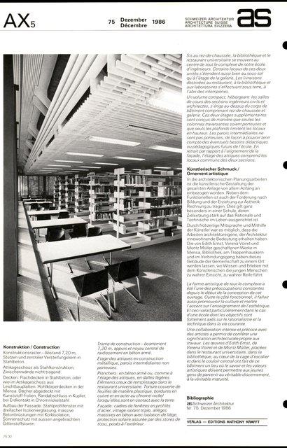 Agrandissement du Technicum de Winterthur Bibliothèque et restaurant universitaire, page 4