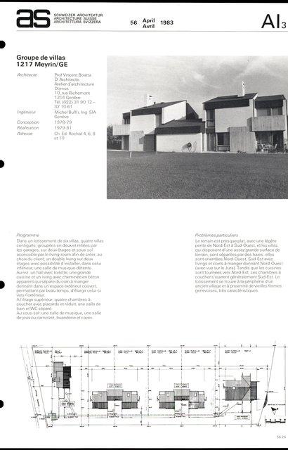 Groupe de villas, page 1