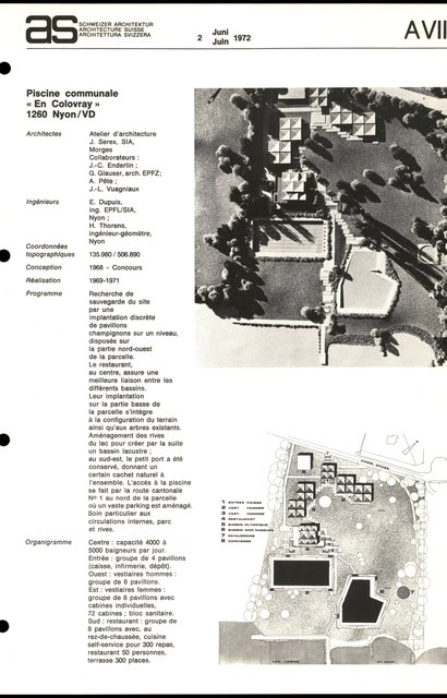 """Piscine communale  """"En Colovray"""", page 1"""
