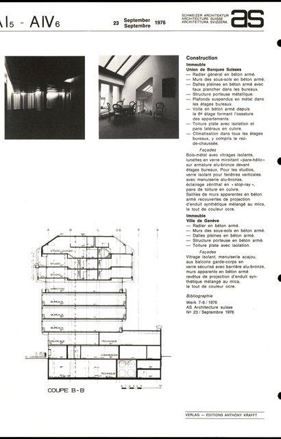 """Immeubles d'habitation et administratif """"Tour Lombard"""", page 4"""