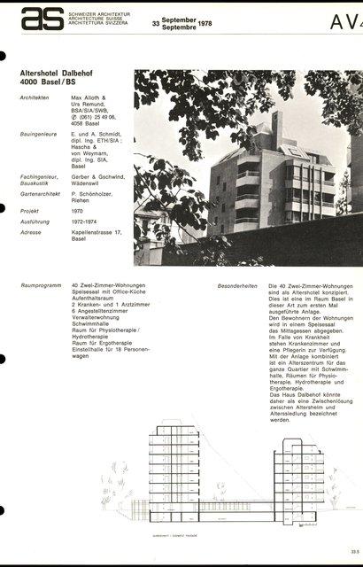 Altershotel Dalbehof, page 1