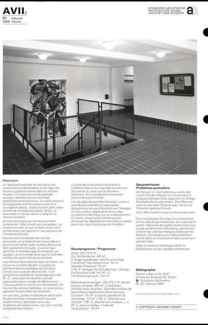Complexe sportif « Utogrund» Améliorations, transformation et construction d'une annexe, page 4