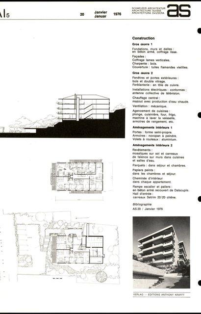 Résidence Faux-Blanc, Bâtiment d'habitation, page 2