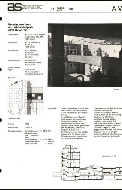 Gemeindezentrum am Winkelriedplatz, page 1