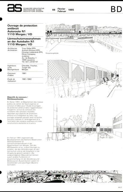 Ouvrage de protection antibruit Autoroute N1, page 1