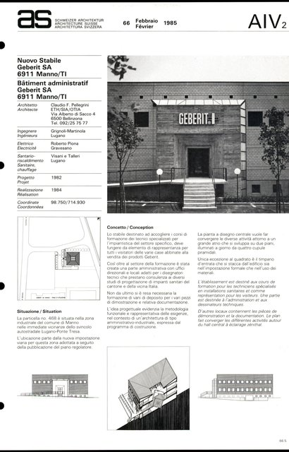 Bâtiment administratif Geberit SA, page 1
