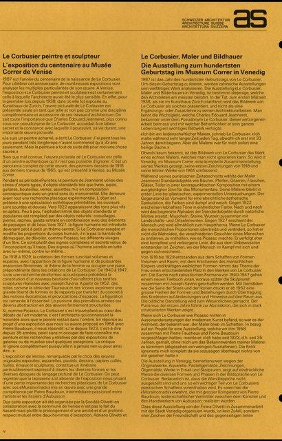 Le Corbusier, peintre et sculpteur L'exposition du centenaire au Musée Correr de Venise, page 1