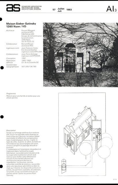 Maison Sieber-Satinsky, page 1