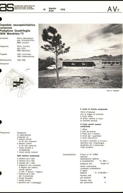Ospedale neuropsichiatrico cantonale padiglione quadrifoglio, page 1