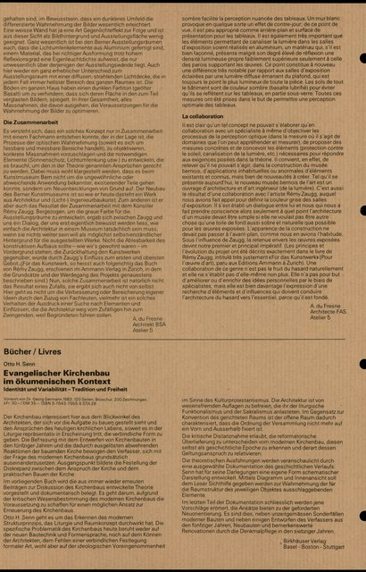 Evangelischer Kirchenbau im ökumenischen Kontext, Otto H. Senn, page 1