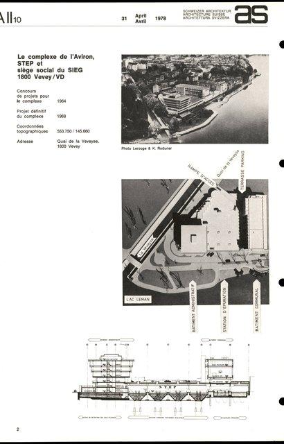 Le complexe de l'Aviron, STEP et siège social du SIEG, page 1