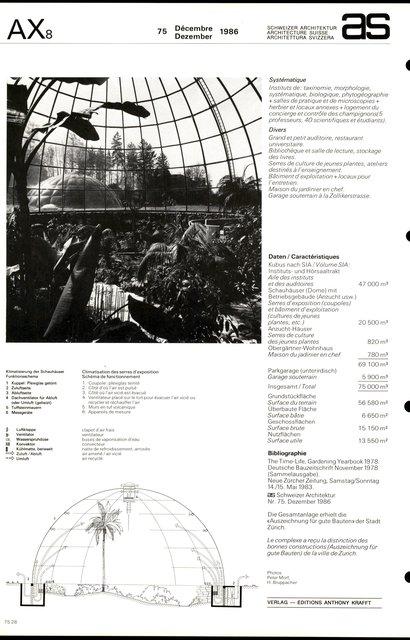 Jardin botanique et instituts botaniques de l'Université de Zurich, page 4