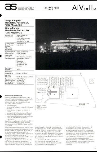 Siège européen Hewlett & Packard SA, page 1