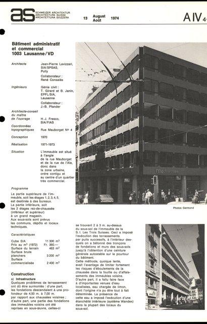 Bâtiment administratif et commercial, page 1