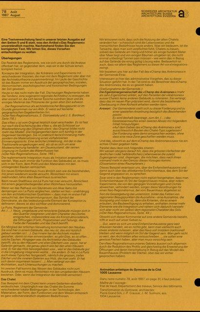 Règlements et image architecturale, page 1