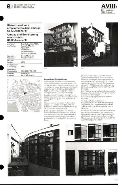 Umbau und Erweiterung eines Hotels, page 1