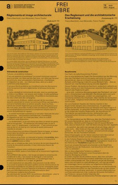 Règlements et image architecturale, page 2
